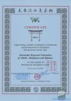 Сертификат Международного Центра Айкидзюдзюцу